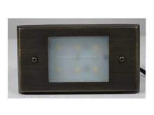 brass IP44 solar wall light outdoor landscape light