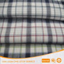 Fashion 100% cotton yarn dyed check stripe shirt fabric