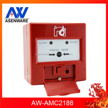 Wall Mounted 2 Wire Sensitivity Addressable Fire Resettable Call Point Manual