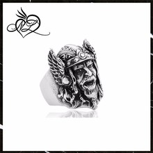 Myth of North Europe Odin Mask Head Portrait Ring Stainless Steel Mens Rings