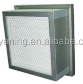 Cleanroom Ducted HEPA Filter Modules Tank-Style Mini-pleated HEPA filter Biological Clean Room HEPA Air Filter , H13 Aluminum F