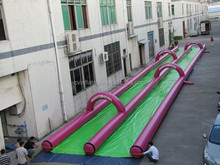 2015 inflatable city slide for kids and adult,Slide The City Slip and Slide 1000ft,inflatable double lane slip slide