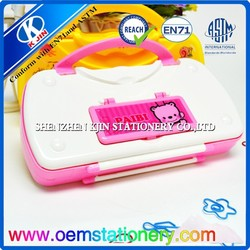2015 new design coloful portable pencil box for children