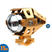 U5 Transformers LED Laser Gun Daylight LED Motorcycle Headlight Moto Bike Head Light Lamp with Strobe Function for HONDA HARLEY
