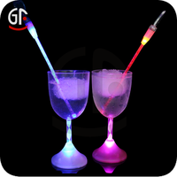 Wholesale Led Flashing Plastic Colored antique silver wine glass