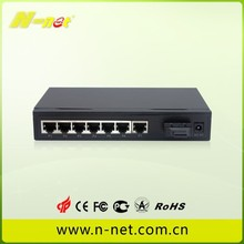 Managed Switch with 7 ethernet Ports and 1 FE fiber Ports (n-net Factory)