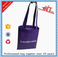 elegant purple non woven bag for shopping