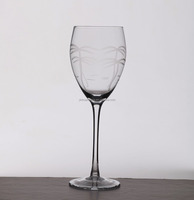Hand-made super brightly clear Crystal Wine Glass for hotel/resterant/bar with coconut tree design