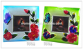 Cristal de colores cristal marco de fotos cubo