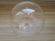 TRANSPARENT AND FROSTED BOROSILICATE BALL GLASS LAMP SHADE WITH SCREW