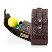 Luxury Leather 2 Ball Golf Case