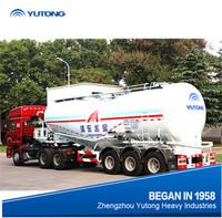Top Ranking Bulk Cement Tank Semi Trailer with air compressor and desiel engine