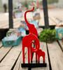 New product decorative woodcraft natural wood elephant safari animal wood craft