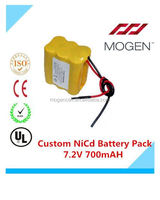 Sc 700Mah 7.2V Rechargeable Battery,7.2V Ni-Cd/Ni-Mh Battery Pack 7.2v aa 700mah Custom Nicd Battery Pack