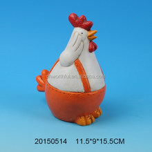 2015 promotional hand painted ceramic rooster