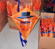 Chinese children Advertising kite flying diamond kite