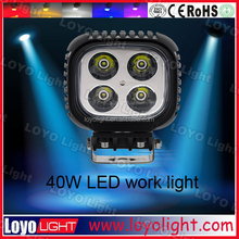 High Powered Square 40W LED Work lamp Flood Beam 5400 Lumens - 9 to 30 Volt LED WORK LIGHT