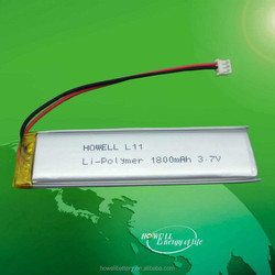 Chinese manufacturer lipo battery 3.7v 1800mah lithium polymer battery for portable device