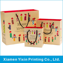 Cheap price happy birthday paper bags factory wholesales
