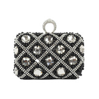 Beauty rhinestone crystal indian clutch purses wholesale