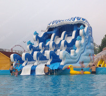 adults swimming pool equipment inflatable water slide