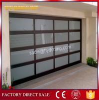YQG-02 automatic aluminum frame glass garage door, garage door side seal