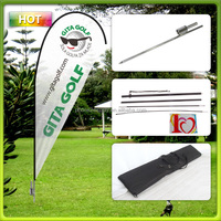 Outdoor teardrop flying banner 110g knitted polyster printing fiber glass pole with aluminum system carried by oxford bag