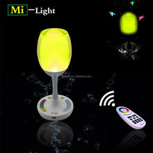 Hot sale RGB wireless led lamp lighting screen touch lighting led table lamp wifi control 2.4g 9 flash led chasing table lamp