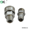 Male mechanical non-valve high flow hydraulic quick release coupling