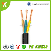 Copper Conductor 3 core 1.5mm 4mm 6mm round flexible cable