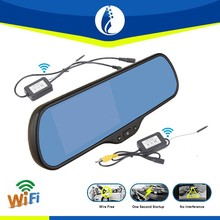 5 inch Android 4.1 WIFI GPS wireless wifi rearview Mirror with Backup Camera