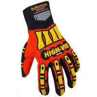 NEW Seibertron High-Vis SDX2 ORIGINAL Impact Protection Gloves - Orange Hi Vis Palm Gloves Heavy Duty Industrial Gloves