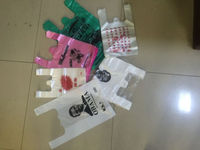 T-shirt carry out plastic grocery bags 100% raw material Recyclable