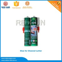 Polyvinyl acetate glue stick for illuminated sign
