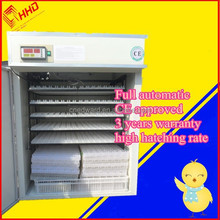3 years warranty best full Automatic 880 eggs incubator EW-9 with CE approved/pigeon baskets