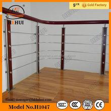 Yy-529 bronce barandillas para escaleras, vidrio laminado balaustre barandilla, piezas de la escalera para pasamanos