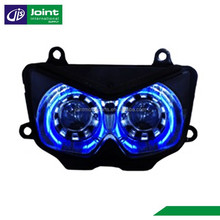 Angel/Devil Eye Projector headlight for Motorcycle Kawasaki Ninja 250 2010