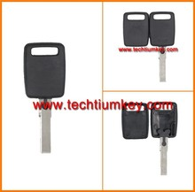 transponder key shell case of Plastic for Audi A1 transponder key shell case fob blank cover with logo of techtium