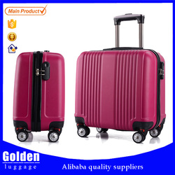fashionable hard travel luggage ABS bright colorful trolley suitcase 4 wheels rolling luggage bag