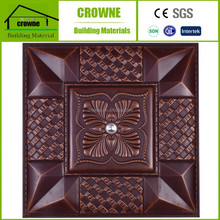Hot Sale Hotel Building Material PU Leather 3D Wall Panel And 3D Wall Covering For Eco Friendly Wall Decoration