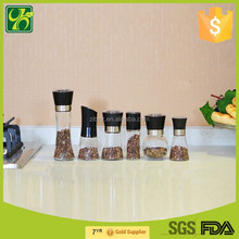 China wholesale manual glass pepper grinder with ceramic cuttery