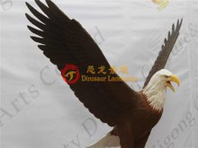 Life size fiberglass eagle sculptures