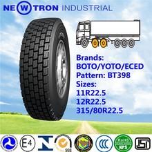 2015 high quality BOTO YOTO top brand BT398 new truck bus drive tyre 315/80R22.5