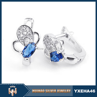 new model different color stone 925 silver cheap fine jewelry earrings