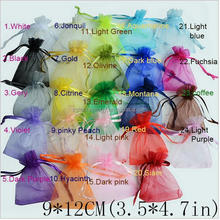 24 colors Selection Jewelry packaging bags Drawable Organza Bags 9x12cm,Gift Bags & Pouches For Wedding Party Favor