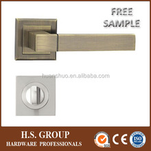 The latest safe aluminum zinc plate door handle and good quality square handle HSJ39-20