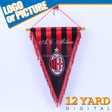 Custom foobtall team hanging pennant flag triangle flag decoration for fans falg sport gift YT-033