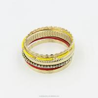 2015 Latest Fashion Design Metal Bracelet,Crystal Gold Plated Bangle Bracelet