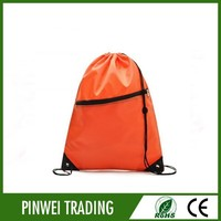wholesale cheap sport basketball nylon polyester drawstring mesh bag, draw string bag