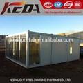 prefabricado contenedor casa de acero de alta calidad para embarque chino en venta